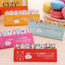 CXZY Bear panda page flags rilakkuma sticky note kawai pink index tabs memo pad planner sticker cute items list stationery 3B815