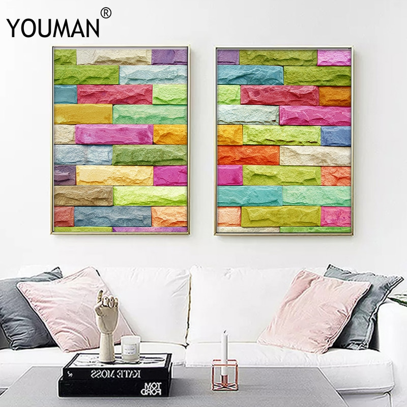 Geometric Poster Wall Pictures Art Canvas Painting Nordic Decoration Home Posters Abstract Wallpaper