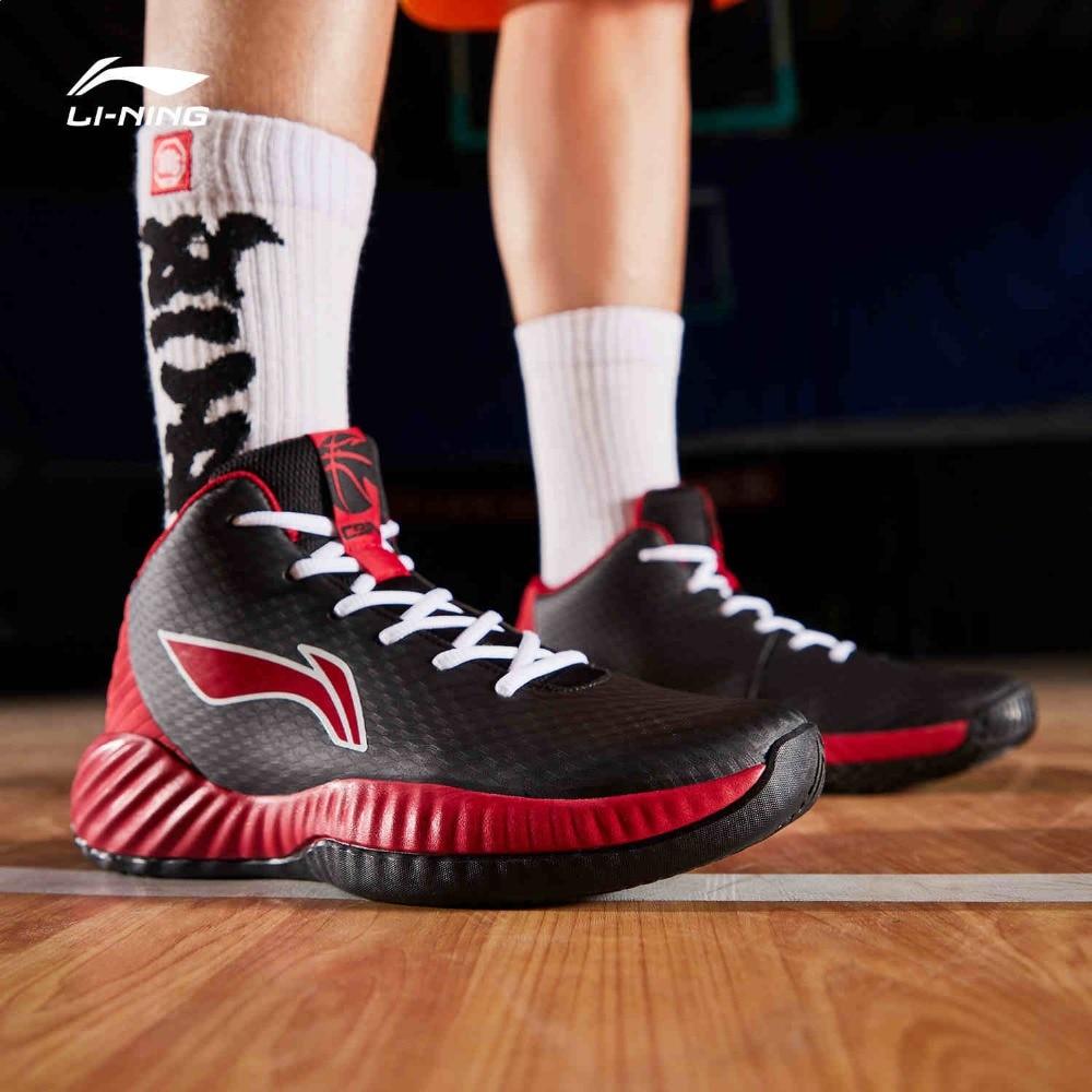 Li-Ning Men COMBAT On Court Basketball Shoes Wearable TUFF RB Medium Cut LiNing Fitness Sport Shoes Sneakers ABPP005 SJFM19