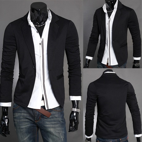 Dropshipping hot sale suits Men's casual slim men's knitted small holiday gift blazers fashion wedding clothes top coat