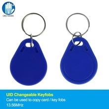 UID-Keyfobs intelligent lisible RFID   Étiquettes de clé à Clone IC intelligent, bloc de 13.56MHz, secteur 0 inscriptible, bleu (paquet de 10/50/100)