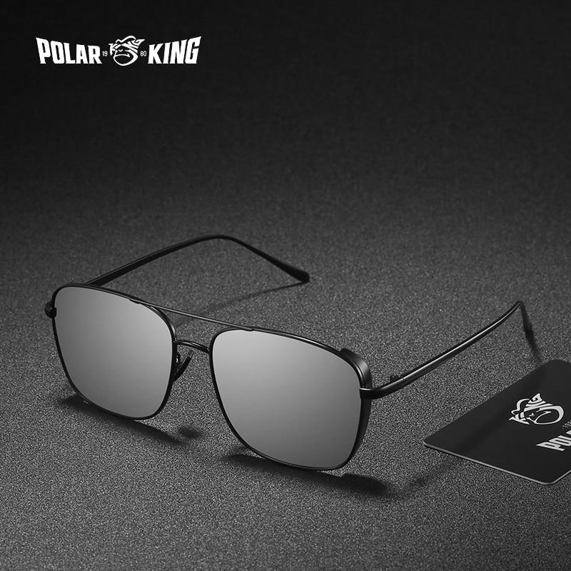Gafas de sol polarizadas POLARKING con marco de Metal estilo Steampunk para hombre gafas de sol de conducción para viajar gafas de pesca