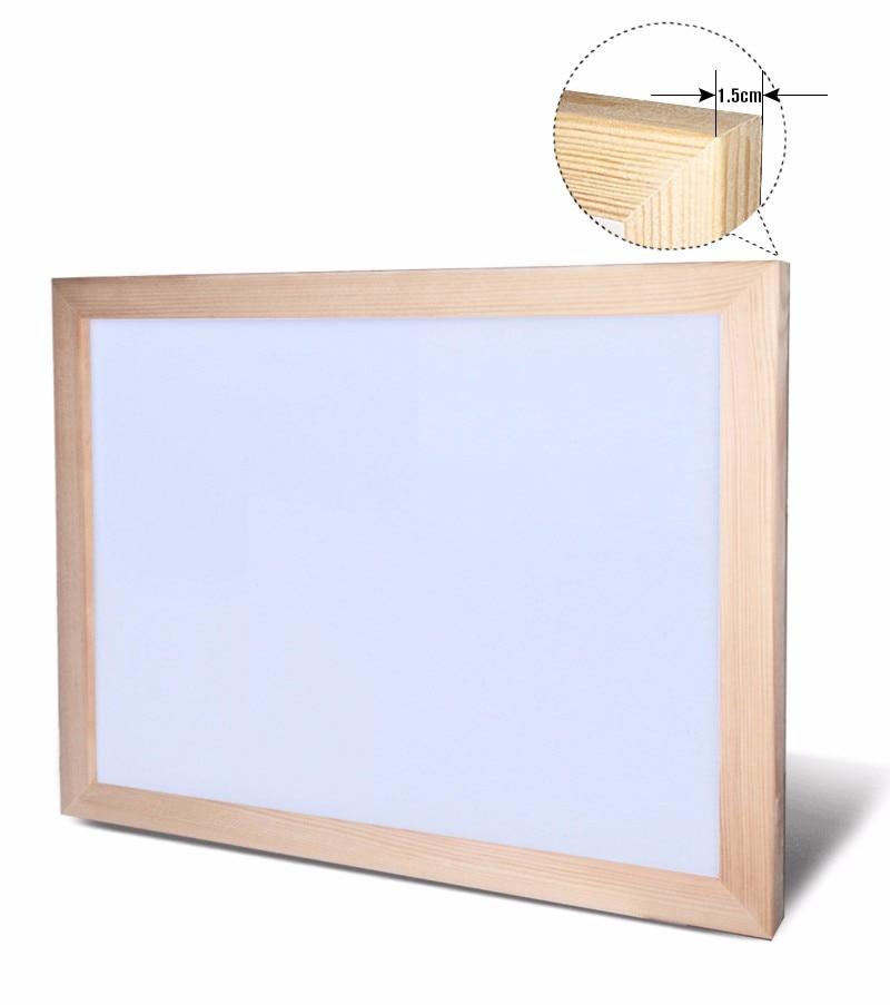 Pizarra blanca de 30x40cm, tablero magnético de borrado en seco, tablones de dibujo, tablones blancos, marco de madera borrados, fácil de repetir, proveedor de fábrica