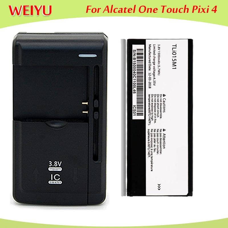Batería de 1500mAh TLi015M1 para Alcatel PIXI 4 4034A 4034X 4034F 4034D, batería, batería, Cargador Universal
