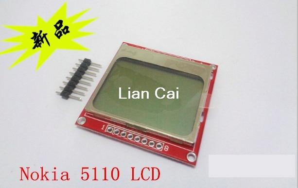 Eletrônica inteligente módulo lcd display monitor branco backlight adaptador pcb 84*48 84x84 tela nokia 5110 para arduino