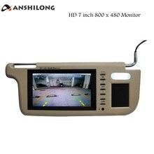 Parasol para coche ANSHILONG, izquierda o derecha, 7 pulgadas, Monitor de vídeo de 2 canales, resolución de 800x480 para reproductor de DVD y cámara de visión trasera de coche