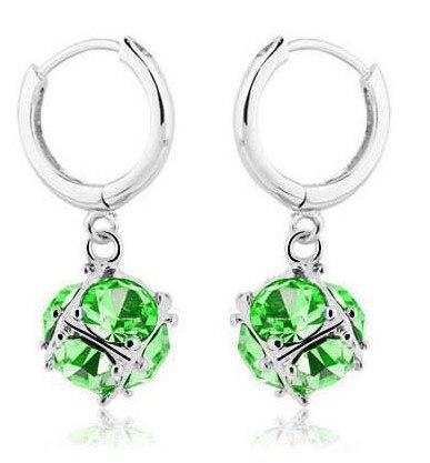 Pendientes de cristal de moda cubo feliz para la joyería hipoalergénica del aro de la mujer ABC