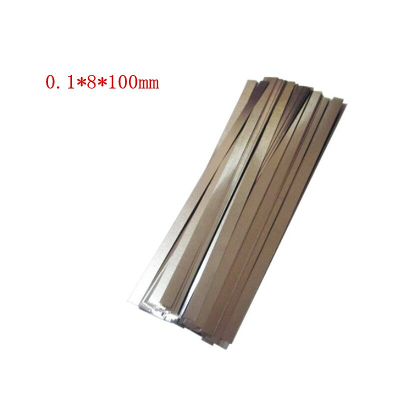 1kg 0.1 x 8 x 100mm Nickel Plated Steel Strap Strip Sheets for Battery spot welding machine Welder Equipment