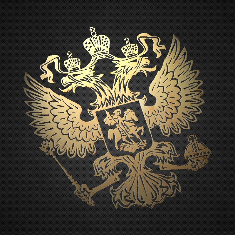 4.5x4 centímetros Niquelar do Brasão de Armas da Rússia Federação Russa Águia Emblema de Metal Adesivos de Carro Decalques para o Carro styling Adesivo Laptop