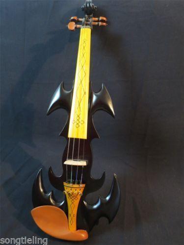 The Best SONG black Top art streamline black 4/4 electric violin,solid wood enlarge