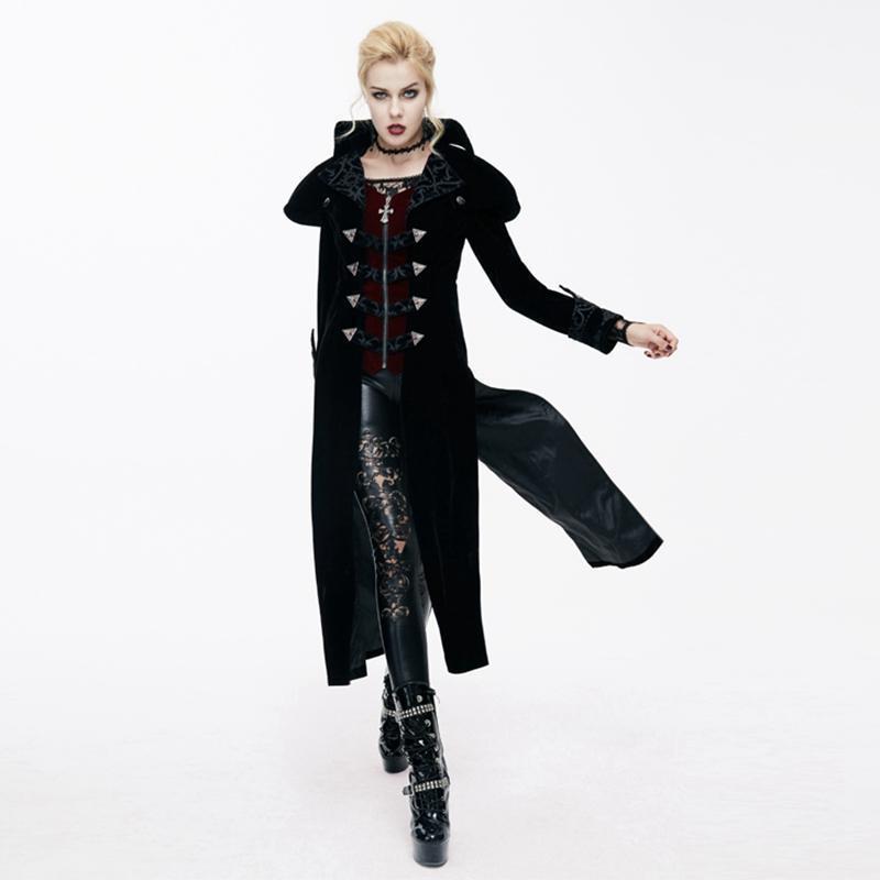 Дьявольское модное женское бархатное пальто с хвостом CT05901/CT05902