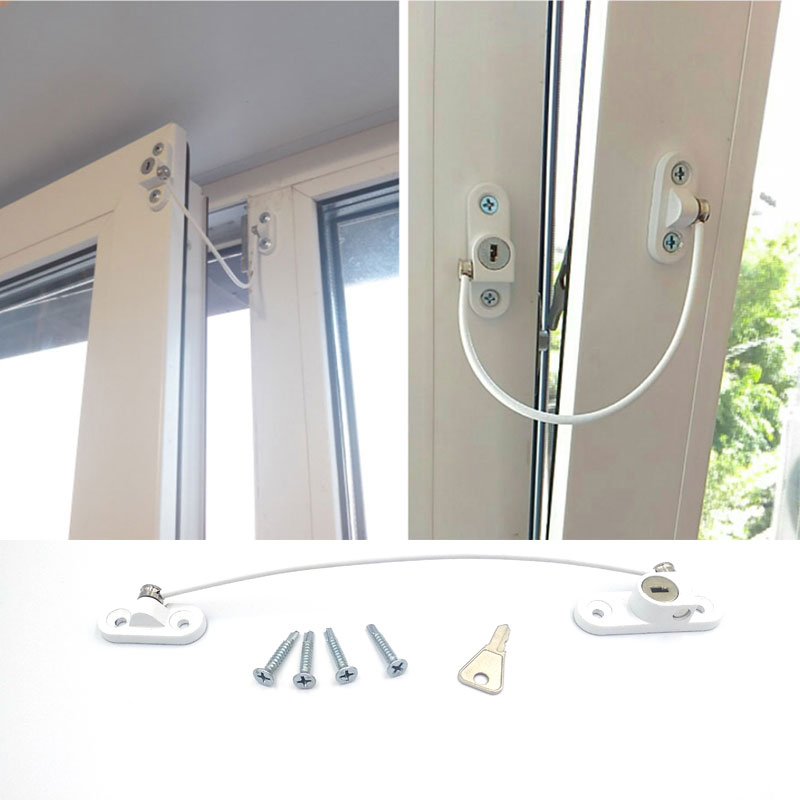 4Pcs/Lot Child Protection Baby Safety Stainless Window Limiter Window Protection Security Lock On The Window Baby Lock