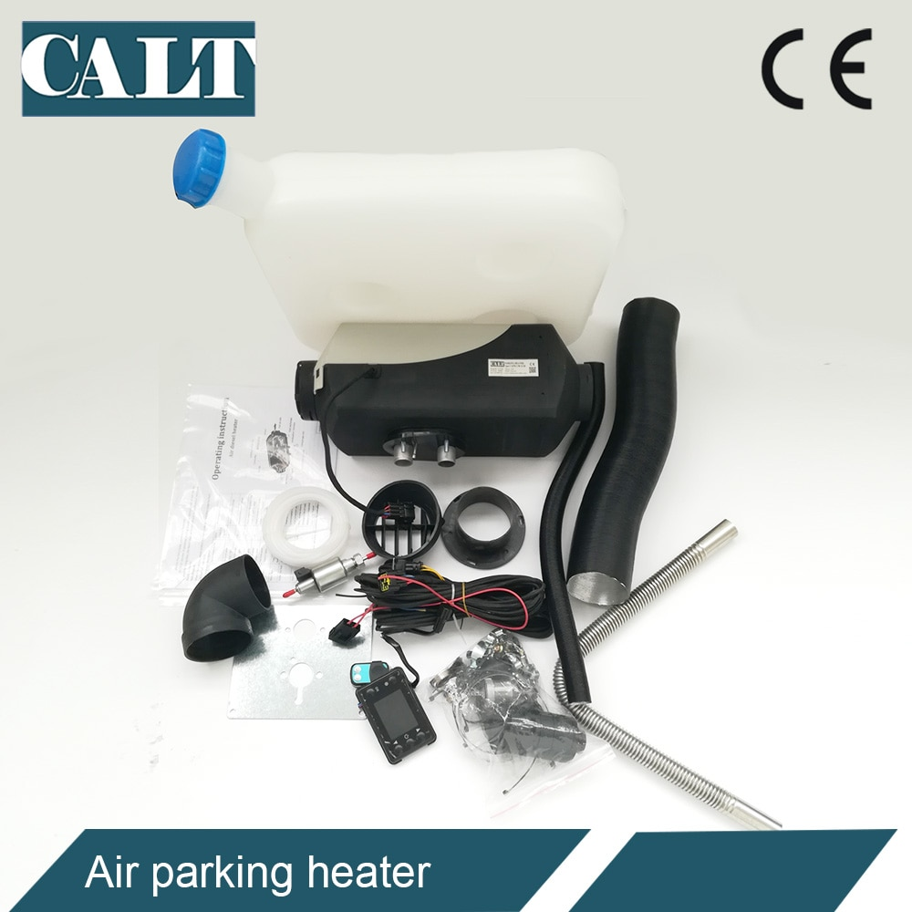 Low cost 5kw universal car heater diesel 12v air parking heater remote control with all accessories enlarge