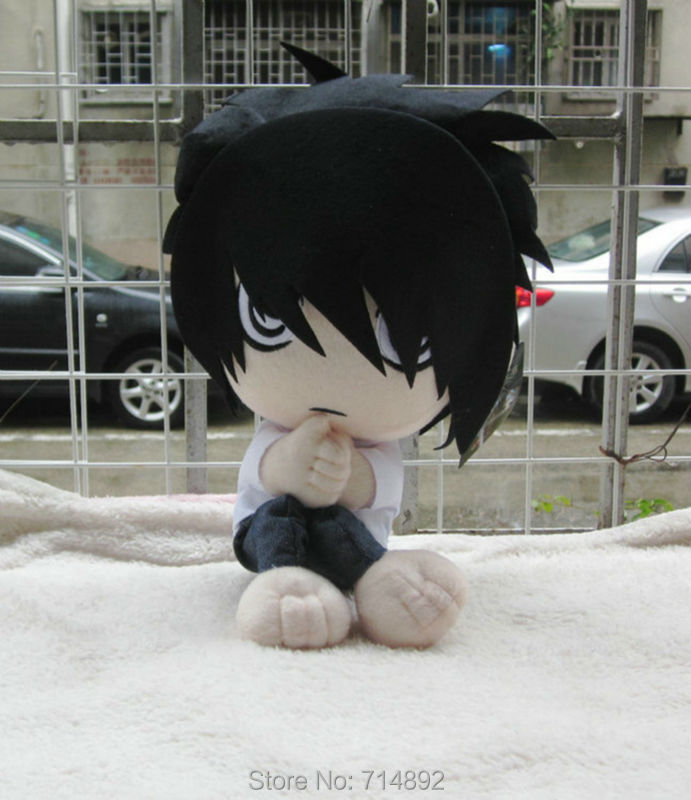 30 pz/lotto Allingrosso Anime Death Note Lawliet plush doll L. Lawliet cosplay figure peluche 30 cm cuscino di trasporto trasporto libero da EMS/DHL