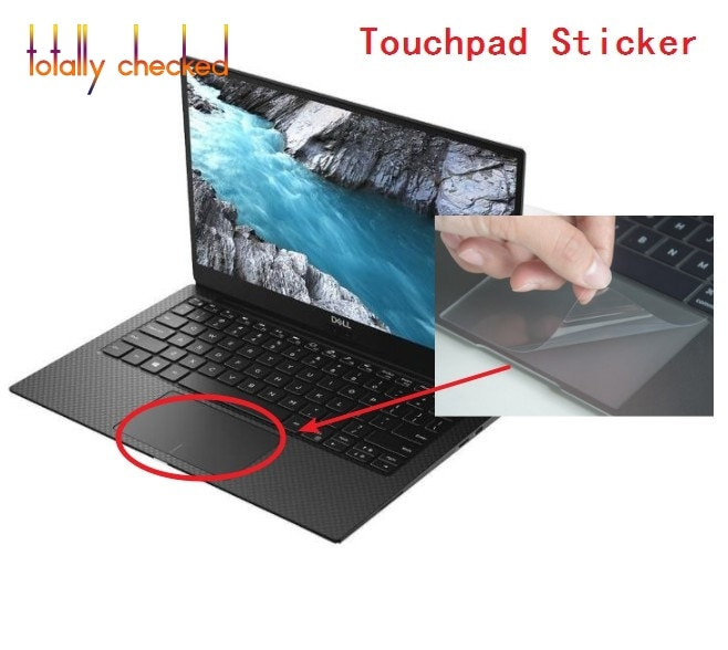 Film tactile mat protecteur dautocollant pour 2017 2018 2019 Dell XPS 13 9360 9365 9370 9380 XPS13-9365 13.3 autocollants pour tablette tactile