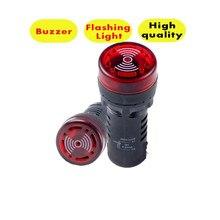 AD16-22SM Led-anzeige licht signal lampe Flash licht summer 12V 24V 110V 220V offene loch 22mm P23