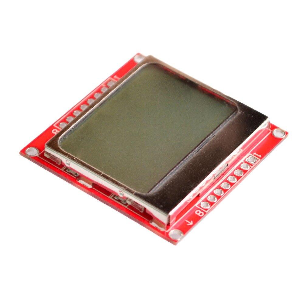 Smart Elektronik LCD Modul Display Monitor Weiß hintergrundbeleuchtung adapter PCB 84*48 84x84 Nokia 5110 Bildschirm für arduino
