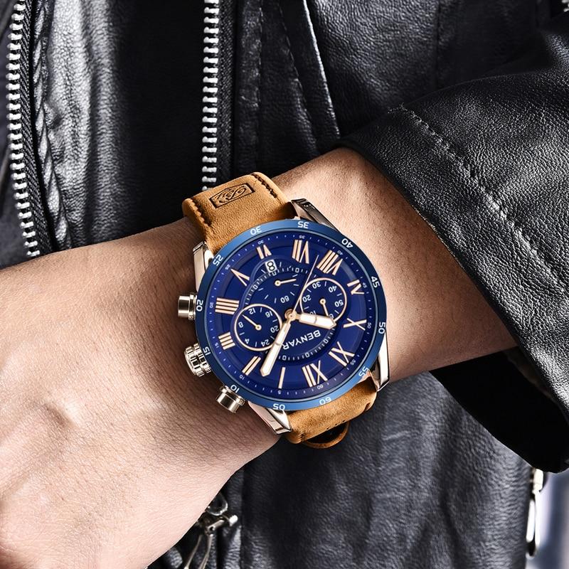 2019 BENYAR reloj cronógrafo deportivo a la moda para hombre, relojes de lujo de marca de lujo, reloj de cuarzo militar resistente al agua, reloj Masculino