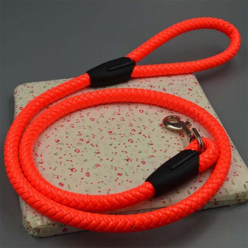 Productos para mascotas 1,2 M mediano grande juego de arnés para perros correa de Nylon correas fuertes arnés cuerda redonda perro cadena separación