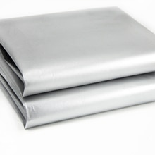 New 50x150cm Blackout Drapery Shade Fabric Black and Silver 100% Shading Light Waterproof Sunshade Cloth Light Weight,c2033
