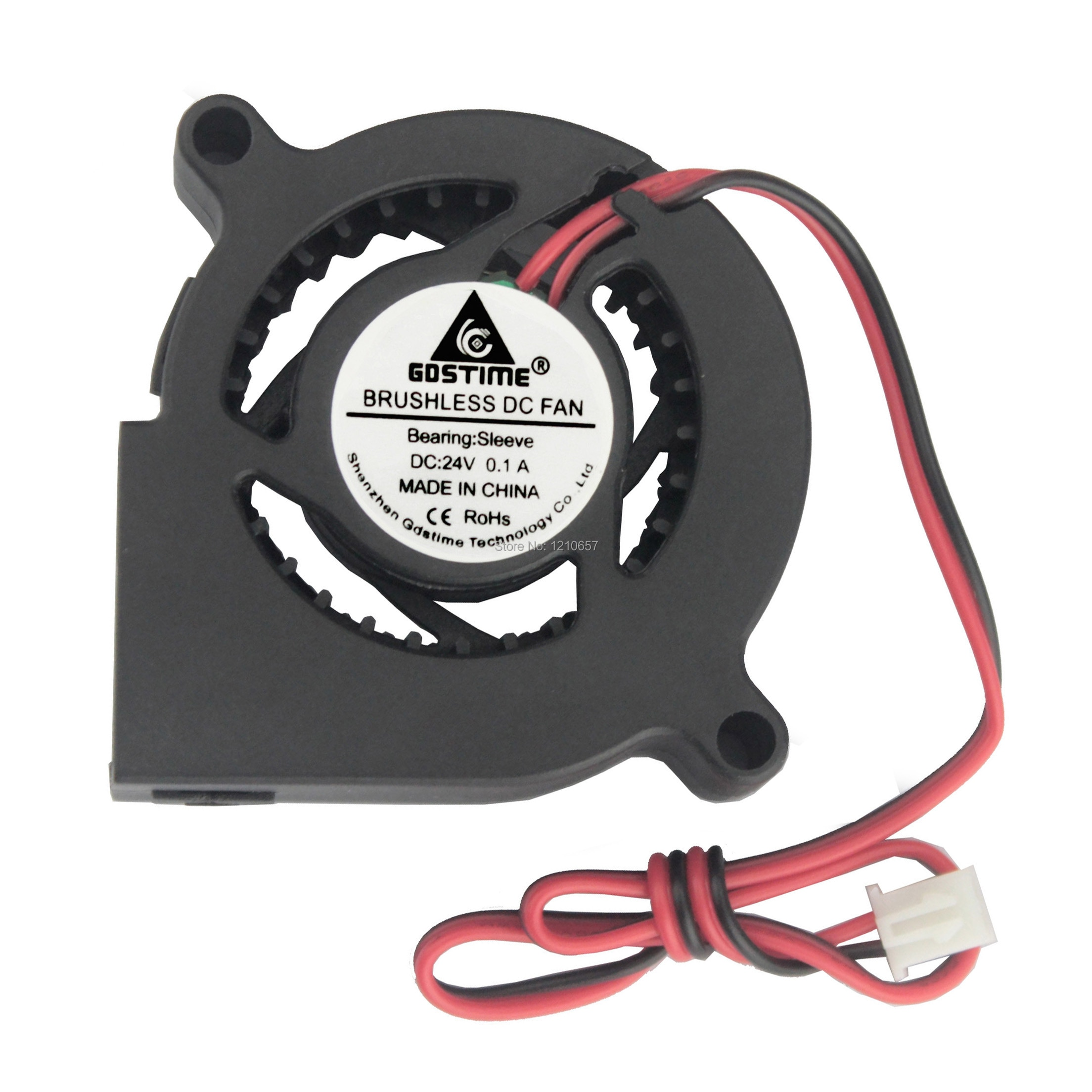 2pieces lot Gdstime 5cm 50mm 50x50x20mm 24V Brushless Cooling Centrifugal Blower Fan