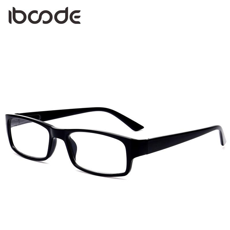 Iboode presbiopia óculos unissex visão distante óculos de leitura clássico masculino feminino + 100 a 400