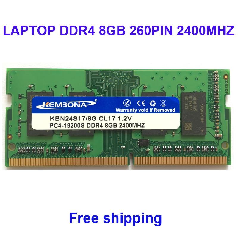 Kembona ذاكرة عشوائية RAM المحمول DDR4 8 جيجابايت 2400 ميجا هرتز 2666 ميجا هرتز 8 جرام ل دفتر SODIMM RAM وحدة 260PIN