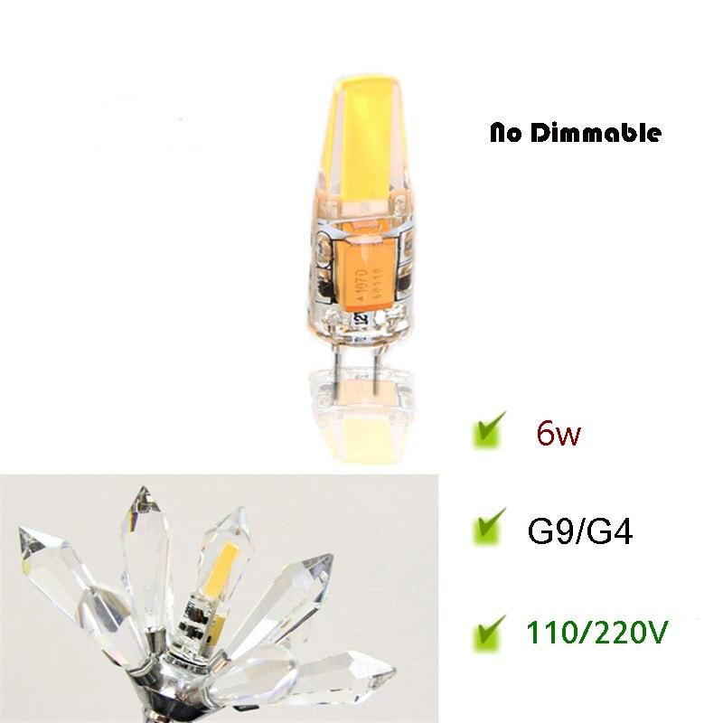 G9 AC110 G4 Lâmpada LED/220 V Corrente Constante lâmpada Driver Estável Sem Cintilação LEVOU Pequena Luz Chip de COB capa de silicone 3 W 6 W Nodimmable