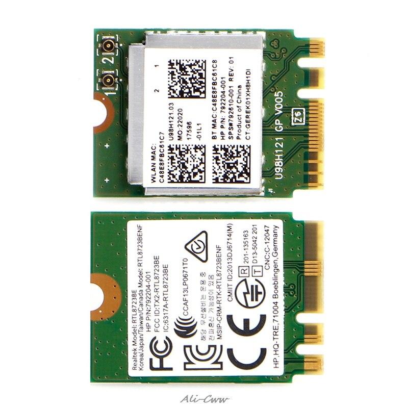 2018 mini relação rtl8723be 792204-001 do cartão de wifi sem fio para hp para dell para asus