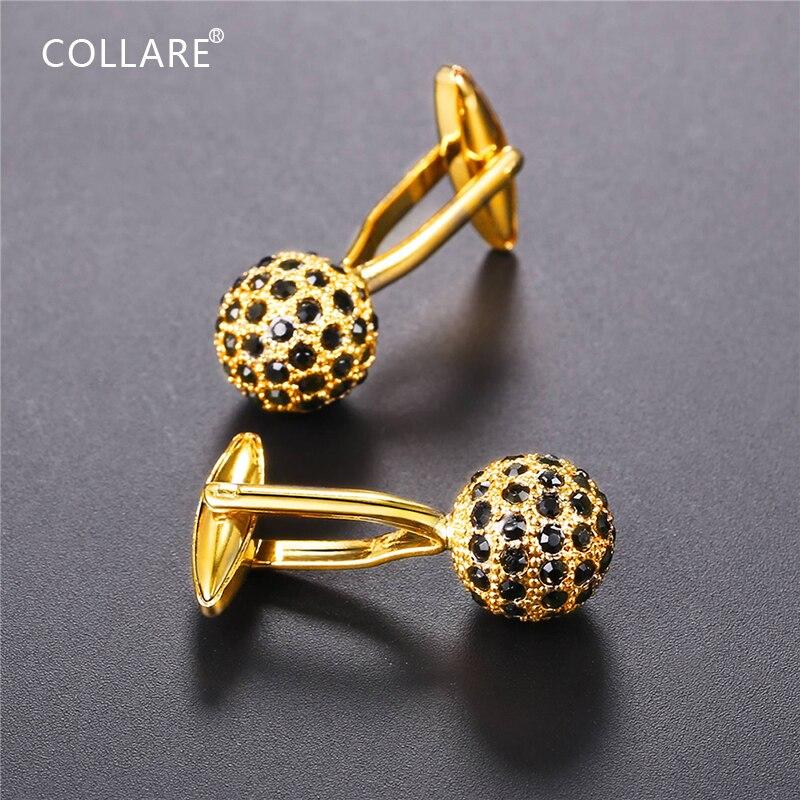 Collare Ice Out Microfone Abotoaduras Para Mens Ouro/Prata Cor Cristal Strass Bolas Jóias Atacado Cuff Links C153