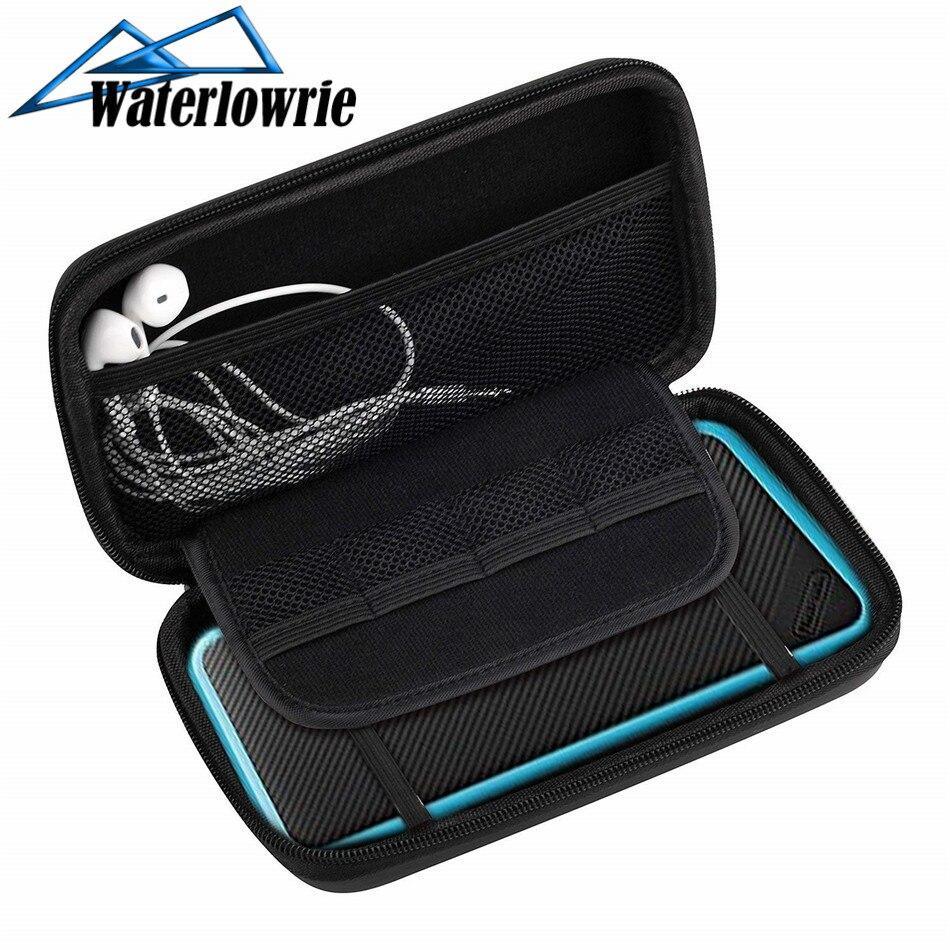 Waterlowrie nuevo 2DS XL nuevo 3DS LL EVA duro estuche protector para almacenamiento cubierta Funda consola de juegos para Nintend 2DS caso