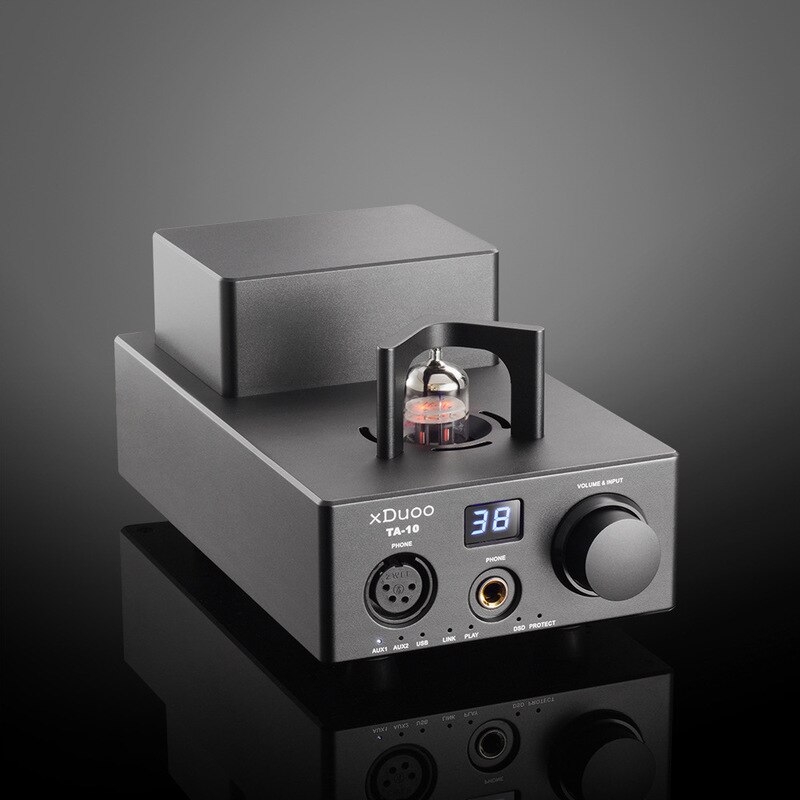 AMPLIFICADOR DE AURICULARES de tubo de electrón decodificador USB xDuoo TA-10, dispositivo amplificador de decodificación de escritorio profesional AMP