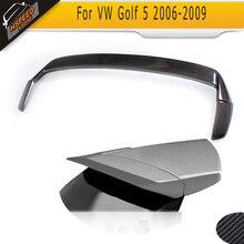 Fibra de carbono substituição spoiler traseiro asa boot lábios apto para vw golf 5 v mk5 gti r32 apenas 2006-2009 não padrão