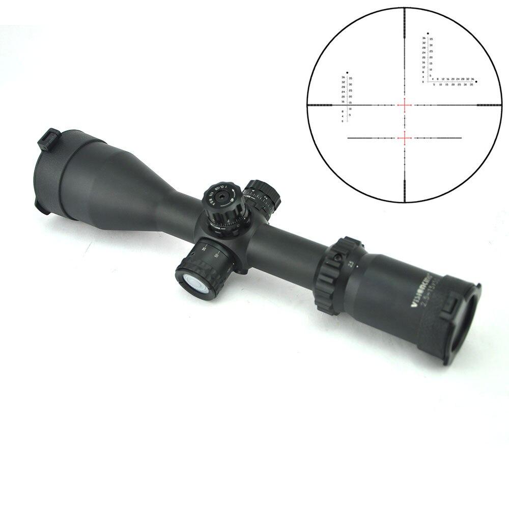 Visionking 2.5-15x50 SFP Sniper Caça Riflescope de Longa Eye Relief Profissional Objetivo Mira Óptica Vermelho iluminado Escopo