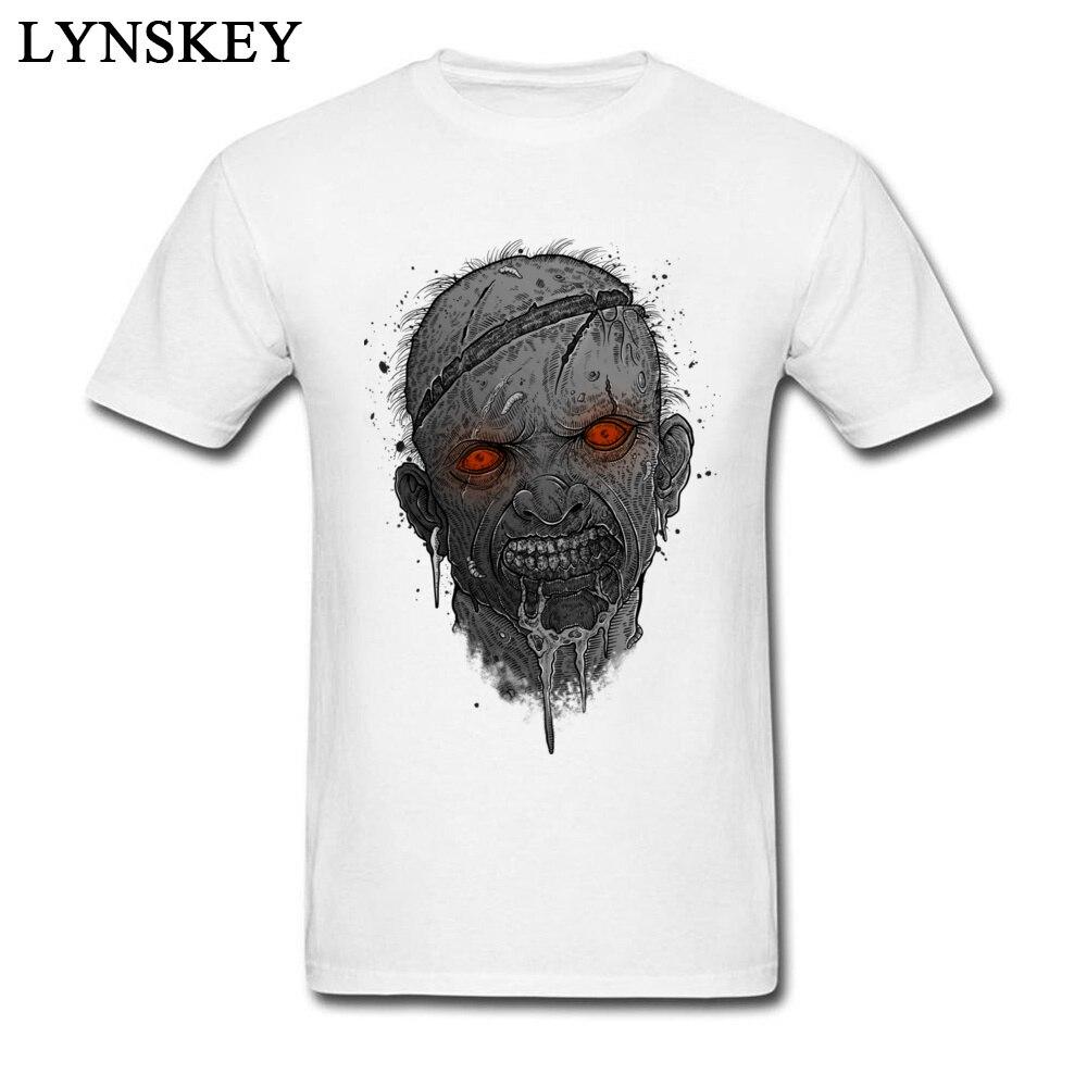 T camisa dos homens dos homens dos mortos do daryl hommes crânio zombie t camisas da banda da rocha t camisas dos homens techno topos & t