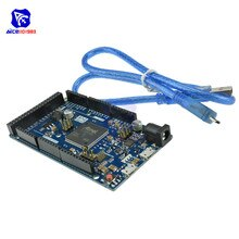 Due R3 carte SAM3X8E Module de carte de commande de Cortex-M3 bras 32 bits avec câble Micro USB pour Arduino DC 3.3 -5V