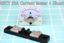 Ampèremètre DC 0-20A 85C1 HQ panneau analogique ampèremètre + Shunt