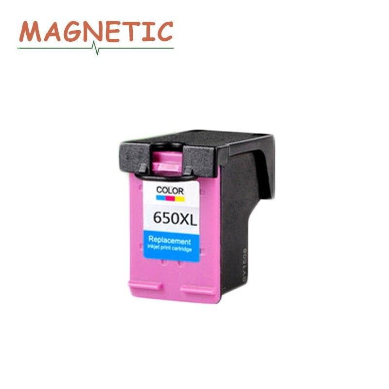 1Pc 650xl para HP Deskjet serie 1015, 1515, 2515, 2545, 2645, 3515, 4645 impresora magnético cartucho de tinta Compatible para HP650 650 Color de la tinta