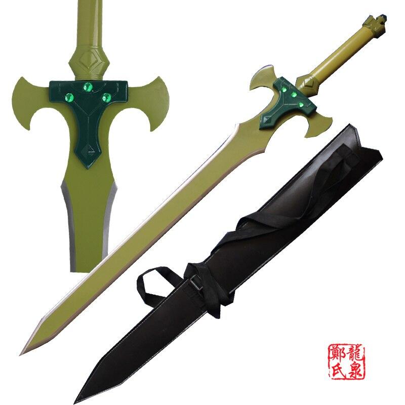 Envío Gratis, hoja de acero para manualidades de Metal, espada Santa de Kirito, accesorios de Cosplay decorativos de animación en línea de SAO alfhei-alo