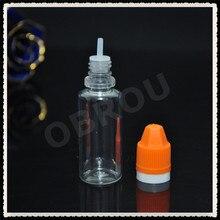 Livraison gratuite 1500 pièces 20 ml bouteilles compte-gouttes en plastique transparent pour animaux de compagnie bouteille avec CRC et bouchon inviolable