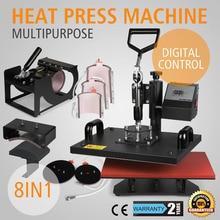 Presse à chaud de transfert de Sublimation numérique 38x30mm 8 en 1
