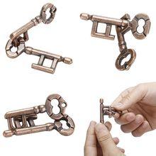 Créatif magique alliage porte-clés Puzzle jeu enfants adultes Intelligent drôle soulager le Stress jouets développer cerveau qi réflexion Test