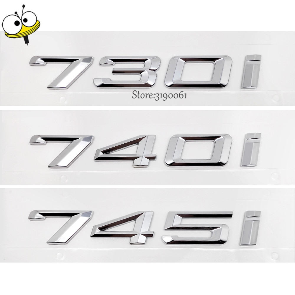 For BMW DIY Sticker Exterior Car-styling Number M Car Sticker Decal Badge Emblem For BMW 7 Series 730i 740i 745i 730 740 GT