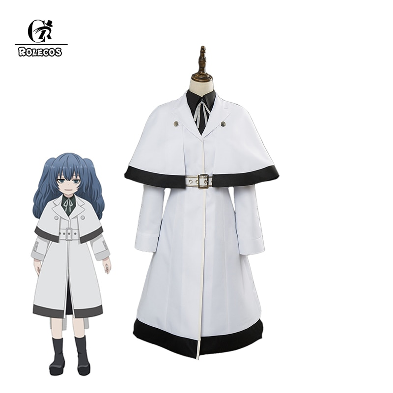 ROLECOS japonés Anime Tokyo Ghoul re Cosplay disfraces Yonebayashi Saiko disfraces Cosplay blanco Trench conjunto completo