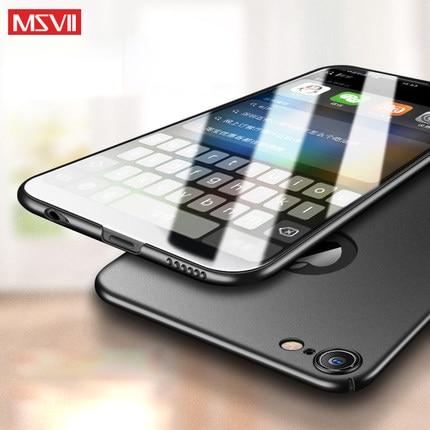 100% Оригинальный MSVII брендовый Роскошный чехол для apple iphone 6s, твердый ПК простой и матовый чехол-накладка в наличии