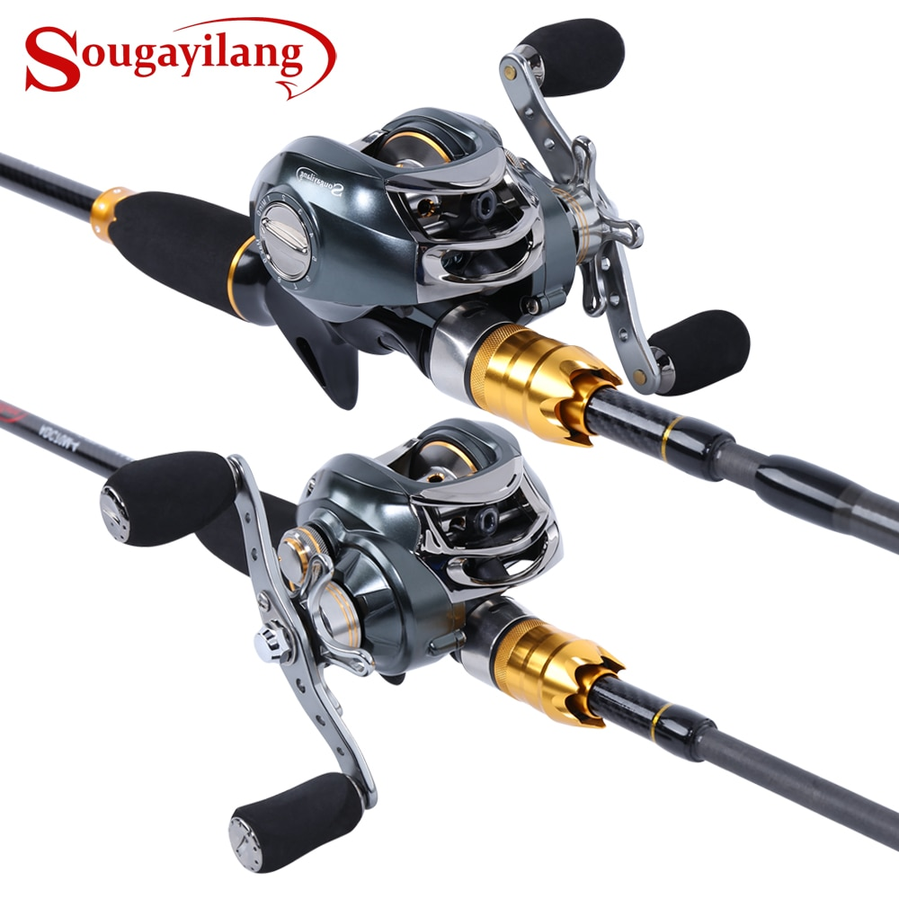high quality 1 65m telescopic lure rod set casting spinning rod fishing reel fishing rod reel line lures hooks portable bag Sougayilang Lure Fishing Rod and Baitcasting Reel 4 Sections Carbon Spinning Lure Rod and Casting Fishing Reel Sets Pesca
