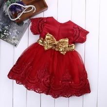 Vêtements princesse pour petites filles   Tenue Tutu de fête, en dentelle, à manches courtes, avec nœud, pour bal, pour enfants de 0 à 7 ans