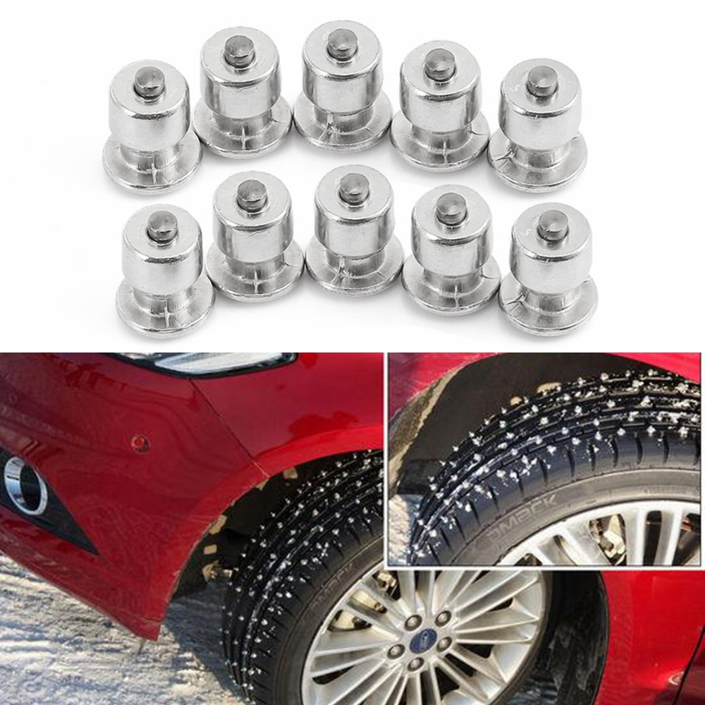 10PCS Pneumatico Inverno Ruota Alette Viti Neve Spikes Borchie di Pneumatici Vite Car Styling Spikes Inverno Pneumatico Da Neve Catene Spike moto