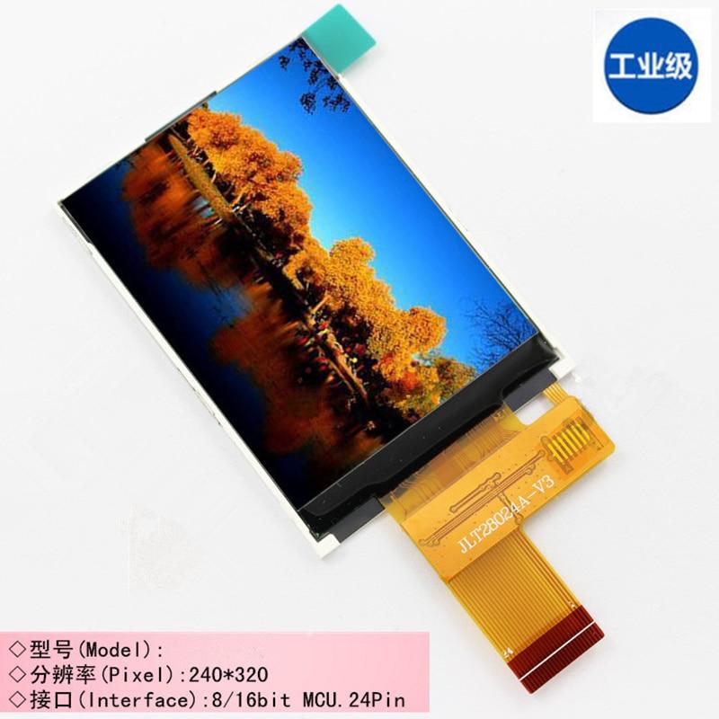 2,4 pulgadas 24 pin TFT LCD pantalla ILI9341 driver 240 (RGB) * 320 QVGA 8/16Bit paralelo gran ángulo de visión No táctil 8080 MCU 8/16-bit