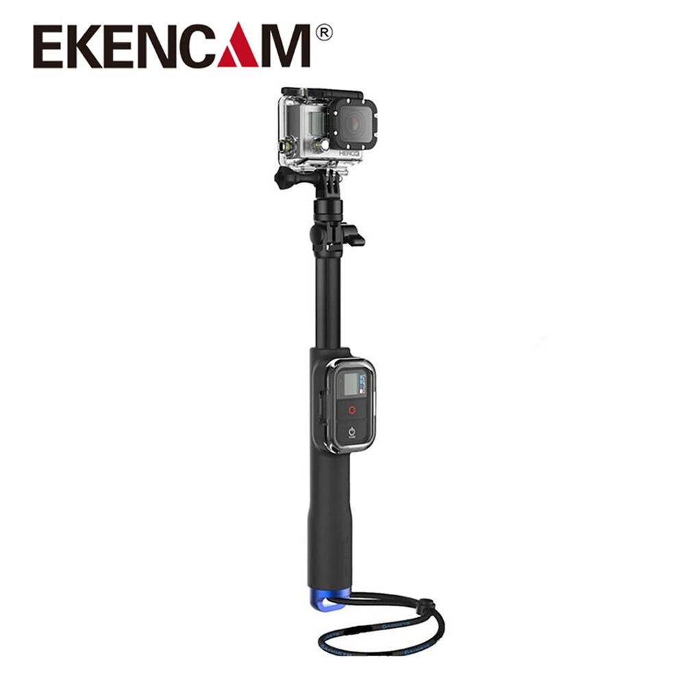 Palo Selfie EKENCAM de 39 pulgadas, palo Selfie monópodo impermeable de mano para GoPro HERO 6 5 3 +/3 4 sesión con Clip remoto Wifi